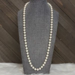 🌟 80's Vintage NAPIER Pearl Long Strand Necklace
